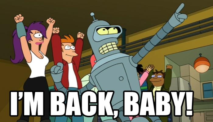 I'm back baby!
