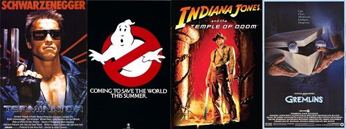 1984-Terminator-Ghostbusters-Indiana-Jones-Temple-of-Doom-Gremlins