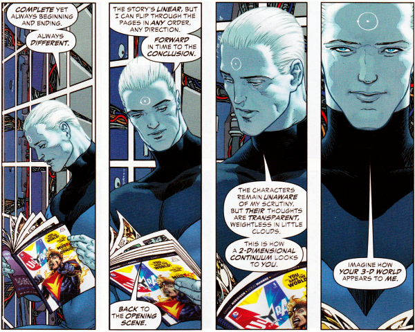 multiversity captain atom explaining the nature of comics